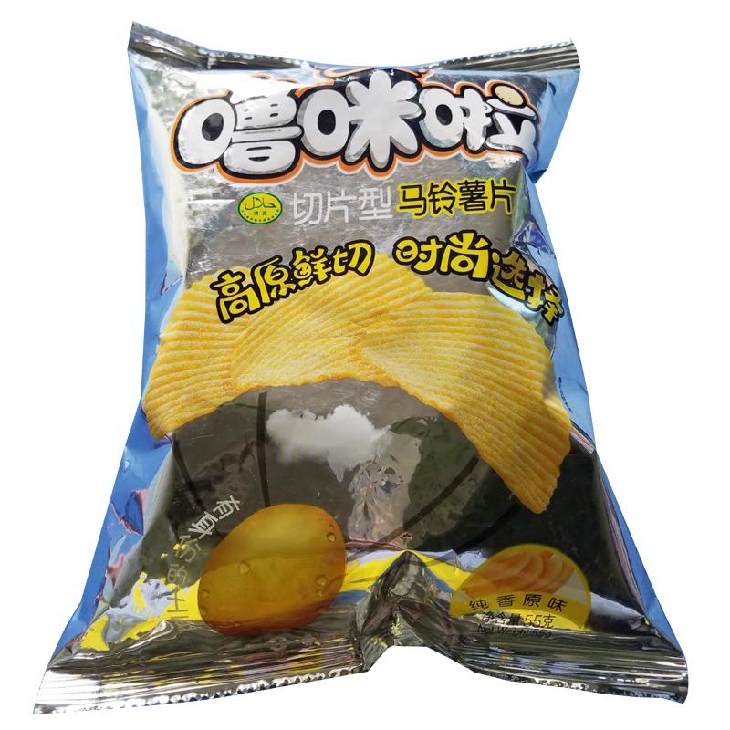 【嚕咪啦】純香原味薯片55g*48