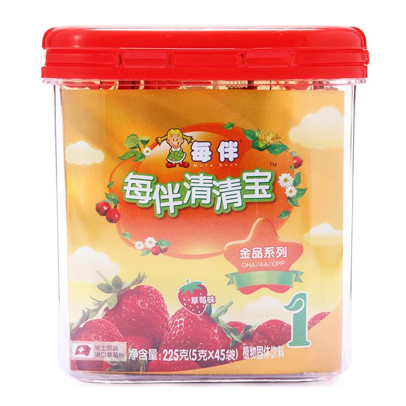 每伴金品草莓小罐1段 5g*45条 (统)