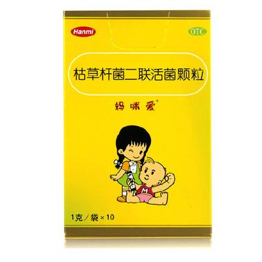 【妈咪爱】 枯草杆菌二联活菌颗粒 (10袋装)