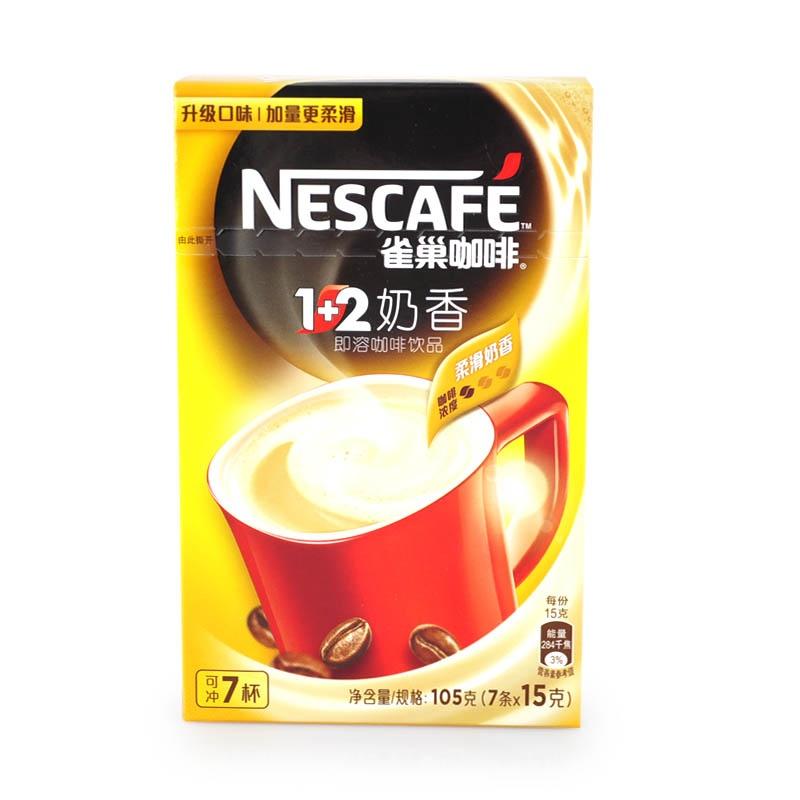 【雀巢】咖啡1+2奶香48(7*15g)