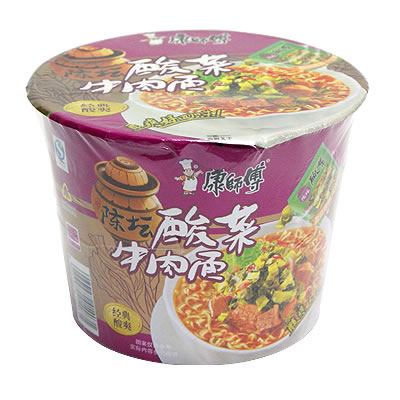 【康師傅】酸菜牛肉桶面125g