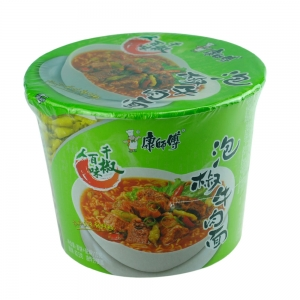 【康師傅】泡椒牛肉桶面 115g