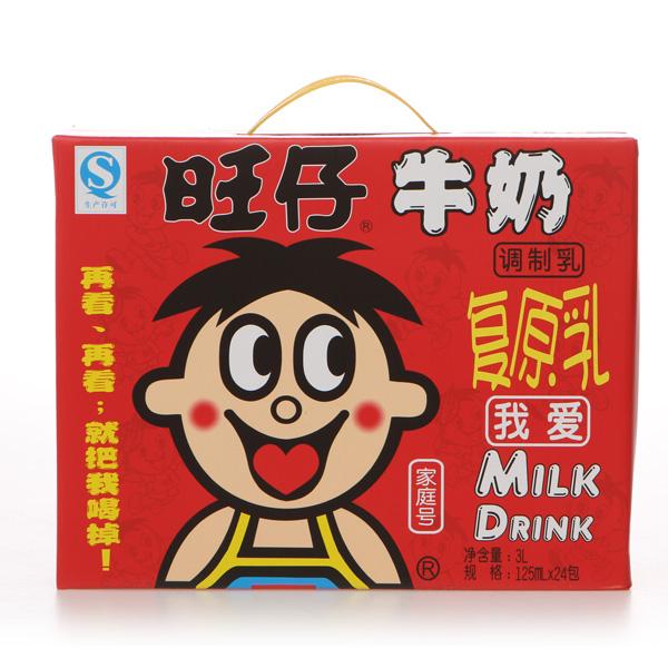 【旺旺】旺仔复原乳牛奶利乐包 125ml*4