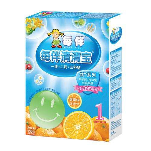 每伴金品香橙小罐1段5g*45条(统)