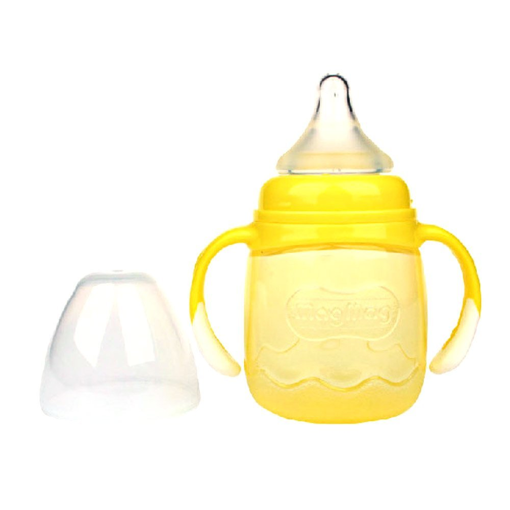 貝親magmag奶嘴式寶寶杯(黃色)DA72