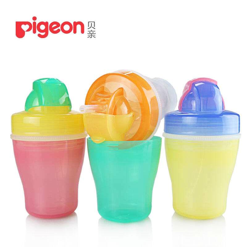 貝親 雙層吸管學飲杯(粉紅)(DA33)