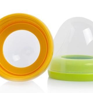 【貝親】口徑奶瓶瓶蓋帽組(黃色)(1只裝)(BA62)(吉2)