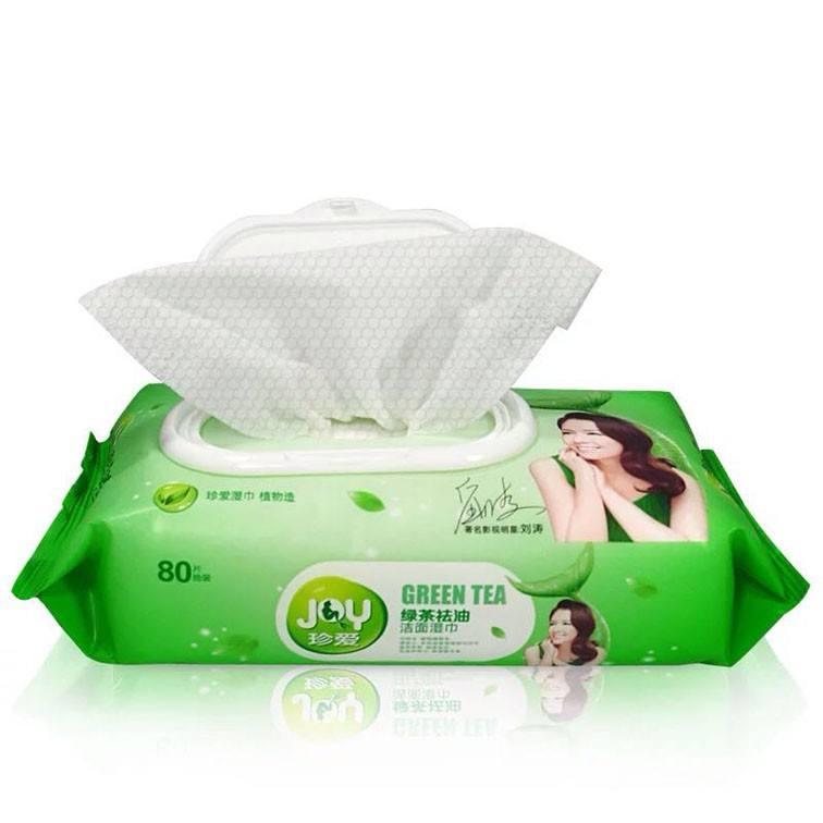 【珍愛】綠茶祛油潔面濕巾80片