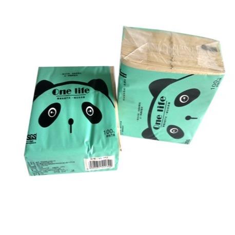 onelife熊貓方巾紙120張    10包/提(200mm*205mm*3層)