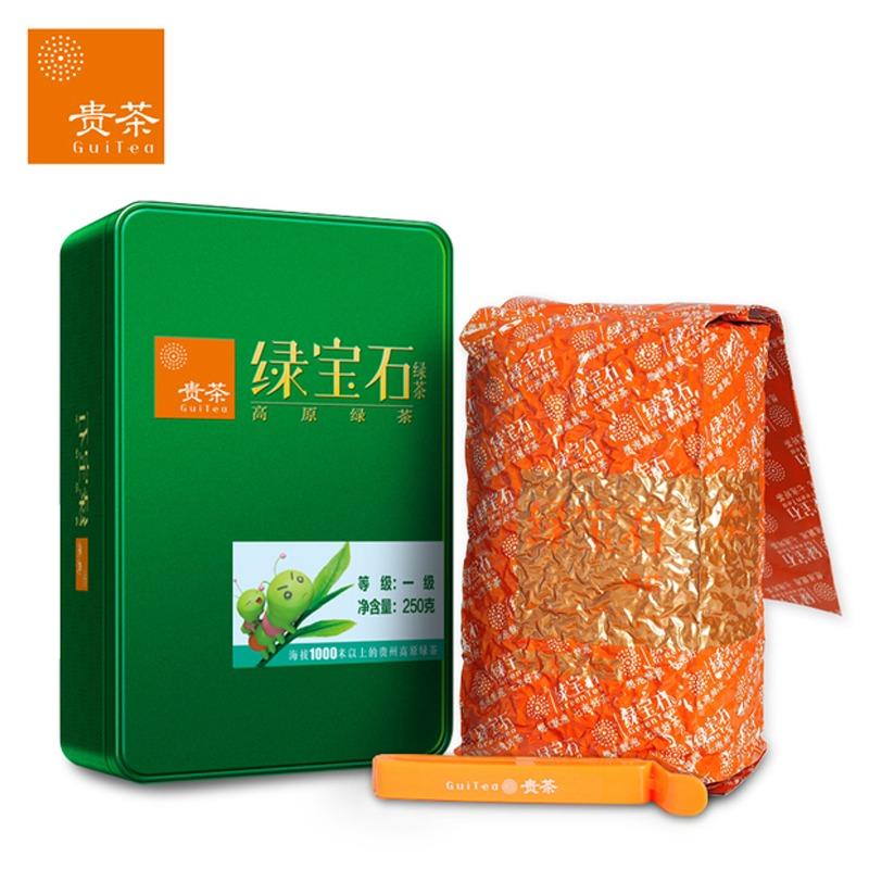 【绿宝石】绿茶一级铁盒108克(3克*36)(统)