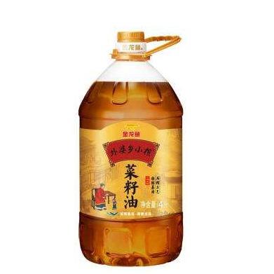 金龙鱼外婆乡小榨菜籽油  4L