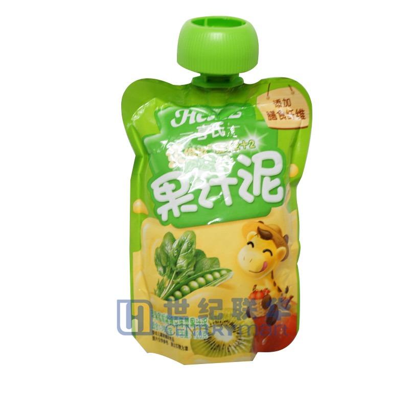亨氏蔬菜果汁泥-蘋果獼猴桃豌豆菠菜120g
