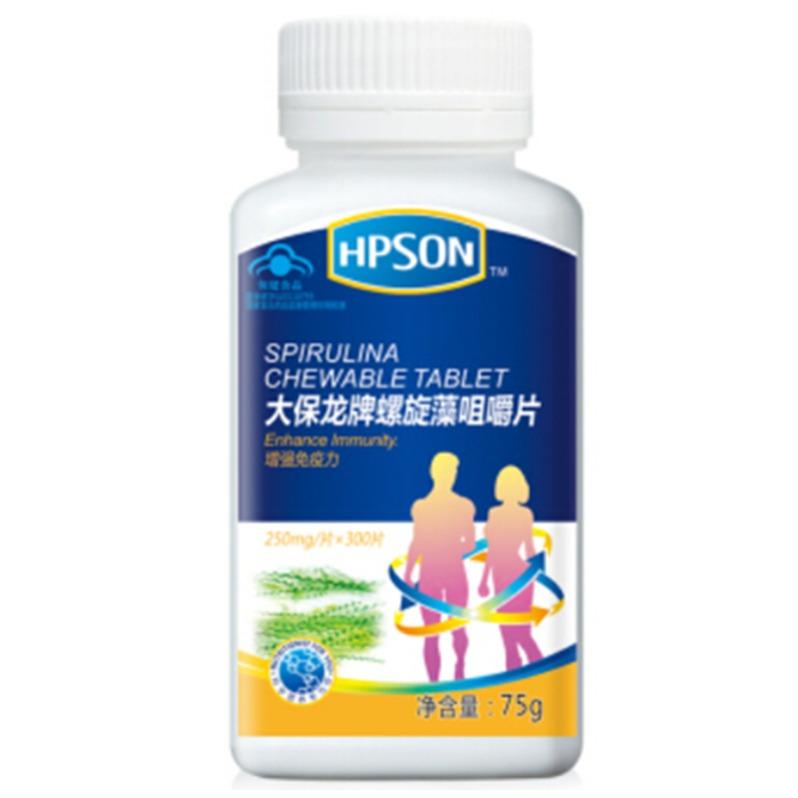 健康汇惠普生螺旋藻咀嚼片(250mg*300片)