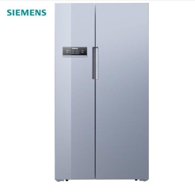 西門子(SIEMENS) 608升 變頻風冷無霜智能對開門冰箱 玻璃面板(歐若拉銀) BCD-608W(KA92SE9DTI)