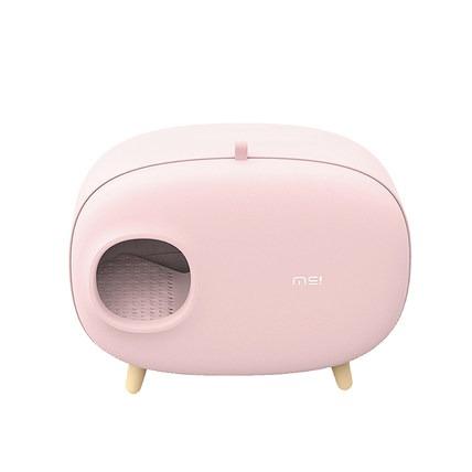 全球购.麻薯团子猫砂盆 粉色款