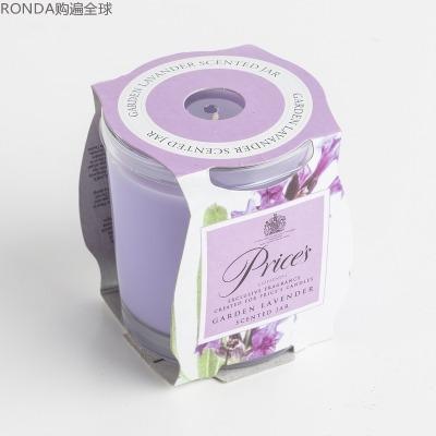 英國Price's玻璃香薰蠟燭香氛燭臺薰衣草香味  83mm*74mm
