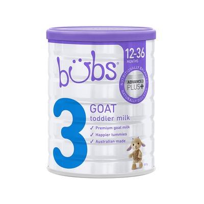 澳洲bubs貝兒嬰幼兒配方羊奶粉3段800g