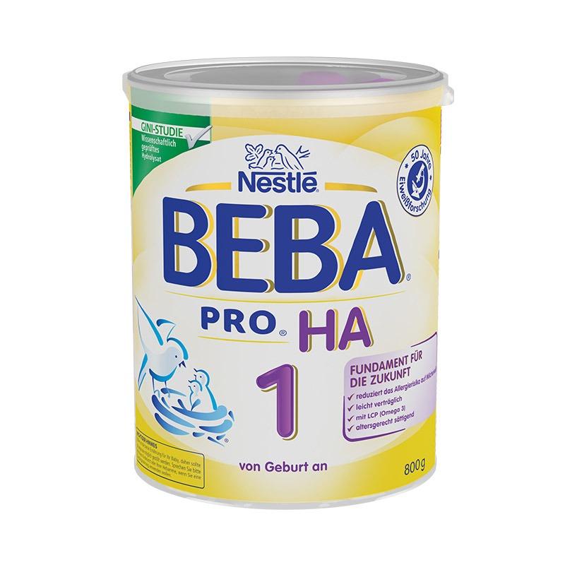 蓋亞-保稅區直發 德國Nestlé雀巢BEBA貝巴適度水解奶粉1段(0-6個月)800g【Gaia 蓋亞跨境購】