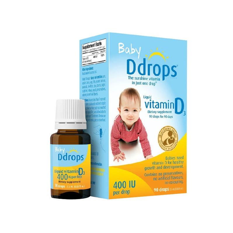 【授權商品】【香港直郵】美國Baby Ddrops 維生素D3滴劑2.5ml(美版)