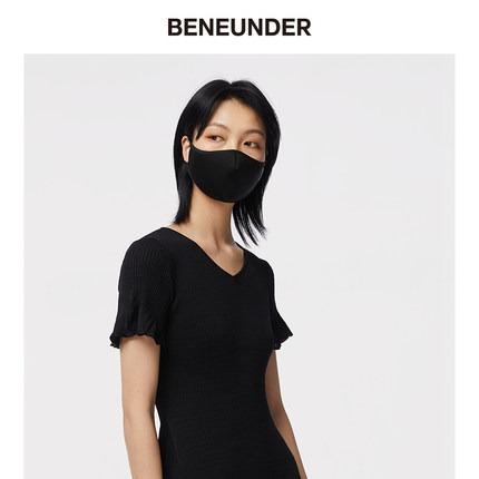 缤纷夏日·BENEUNDER空间防晒口罩遮阳防紫外线春夏透气可清洗面罩女易呼吸 云碳黑