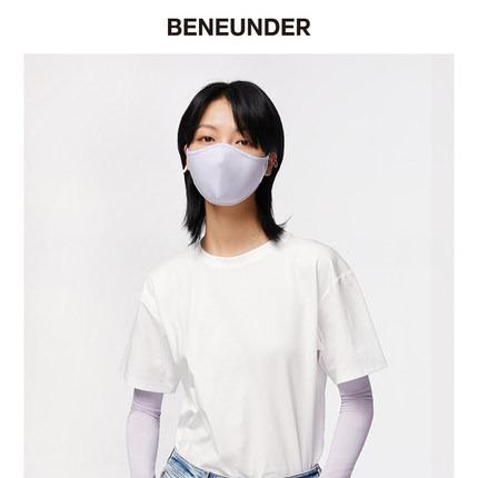 缤纷夏日·BENEUNDER空间防晒口罩遮阳防紫外线春夏透气可清洗面罩女易呼吸 冰凌紫