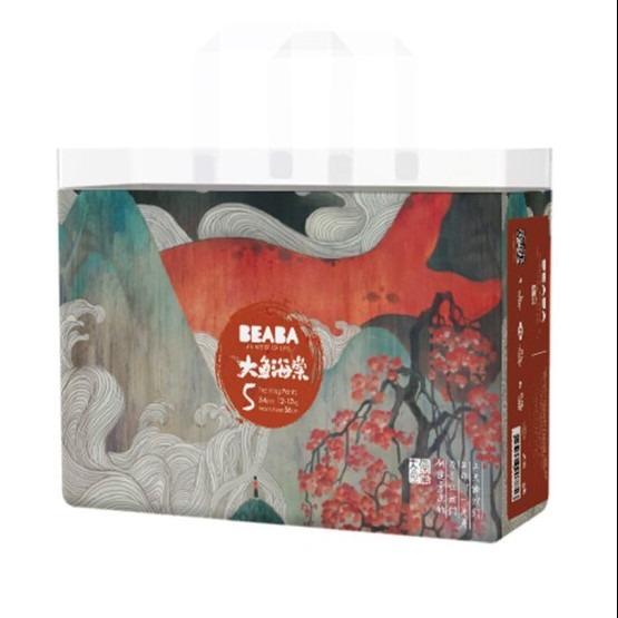 亲子出游·BEABA碧芭宝贝大鱼海棠婴儿尿不湿拉拉裤XL  34片(4包装)