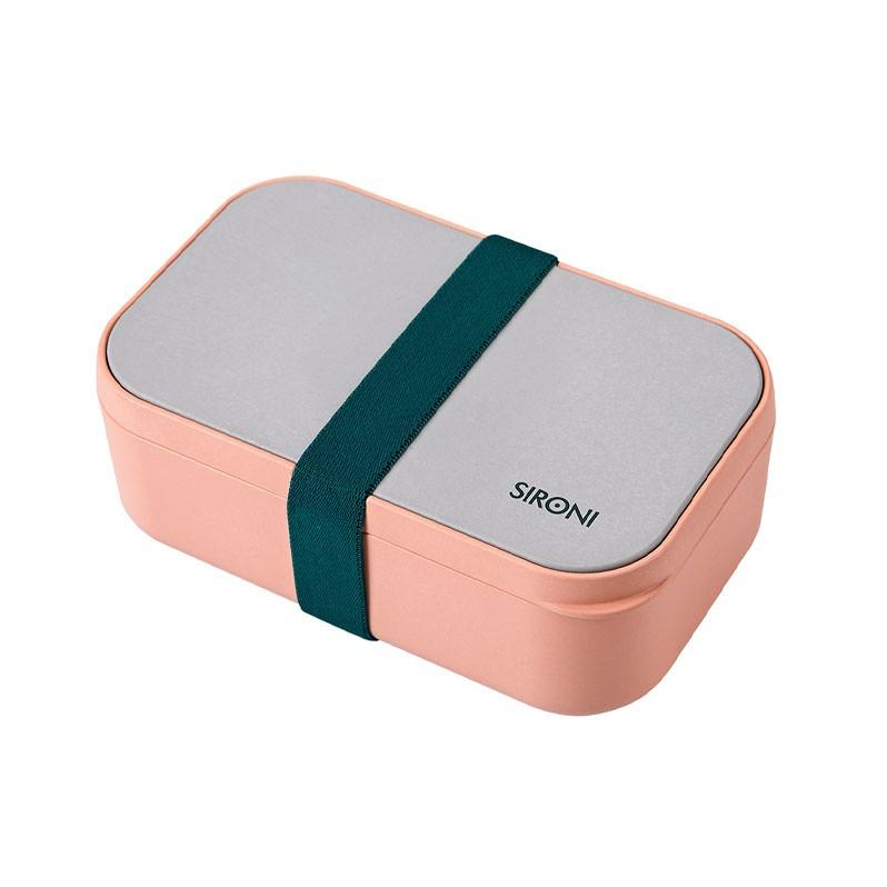 民生惠 ·SIRONI 竹纤维食品级可降解便当盒 (含餐具)