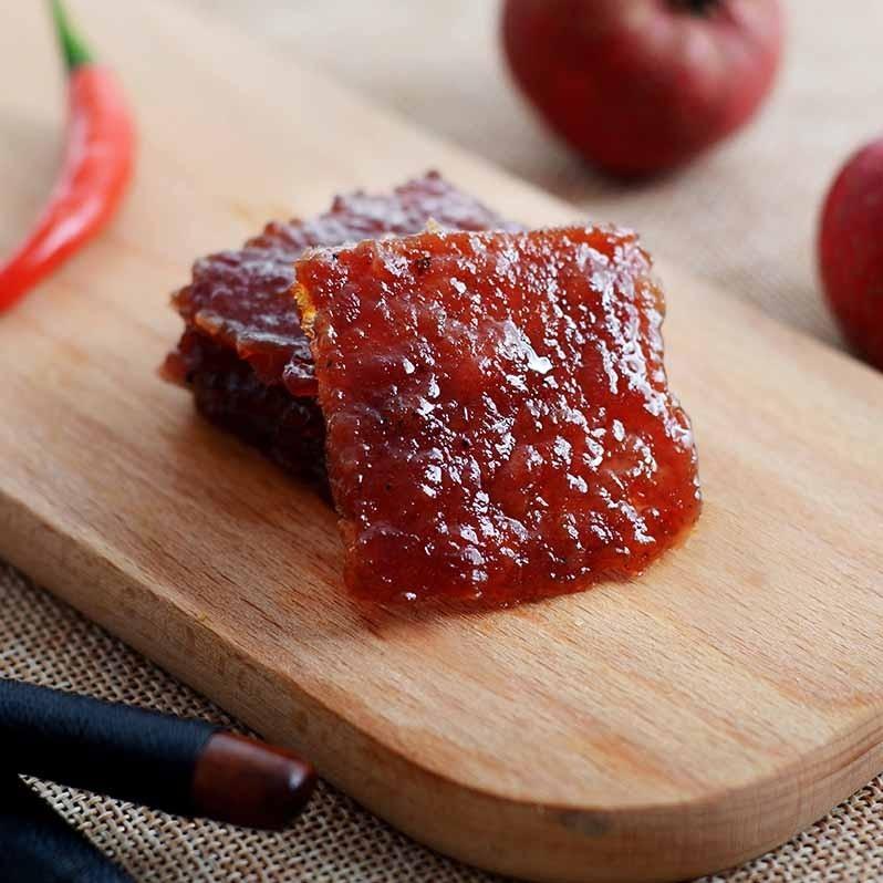 民生惠 · 豬印記 潮汕特產豬肉脯散裝零食小吃自然片碳烤肉干蜜汁原味肉片180G*3包
