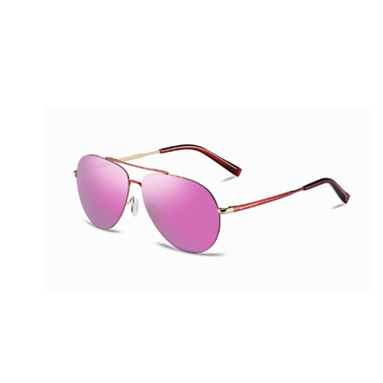 民生惠 ·海伦凯勒太阳镜     紫红色镀膜+玫瑰金色框