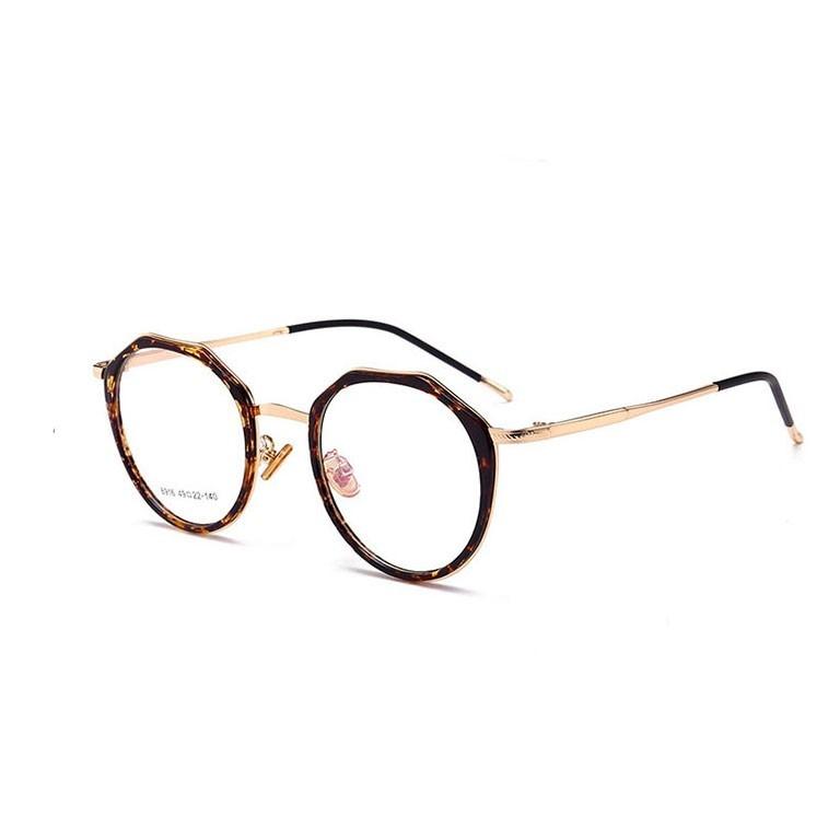 民生惠 ·LJGOOD/驪佳 防藍光護目鏡多邊形眼鏡可配近視1804 咖啡框