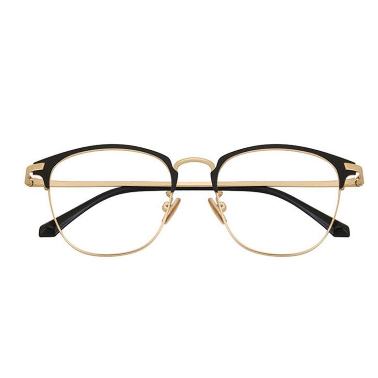 民生惠 ·LJGOOD/驪佳 超輕純鈦防藍光眼鏡框可配近視 4004 黑金色