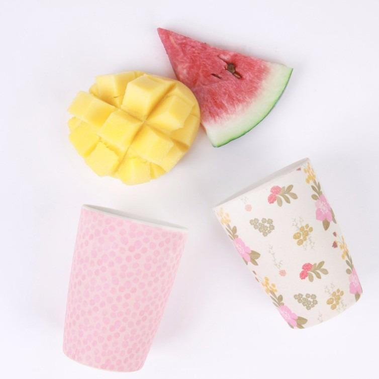 民生惠 ·LOVE MAE 粉色碎花水杯4件套  YG004