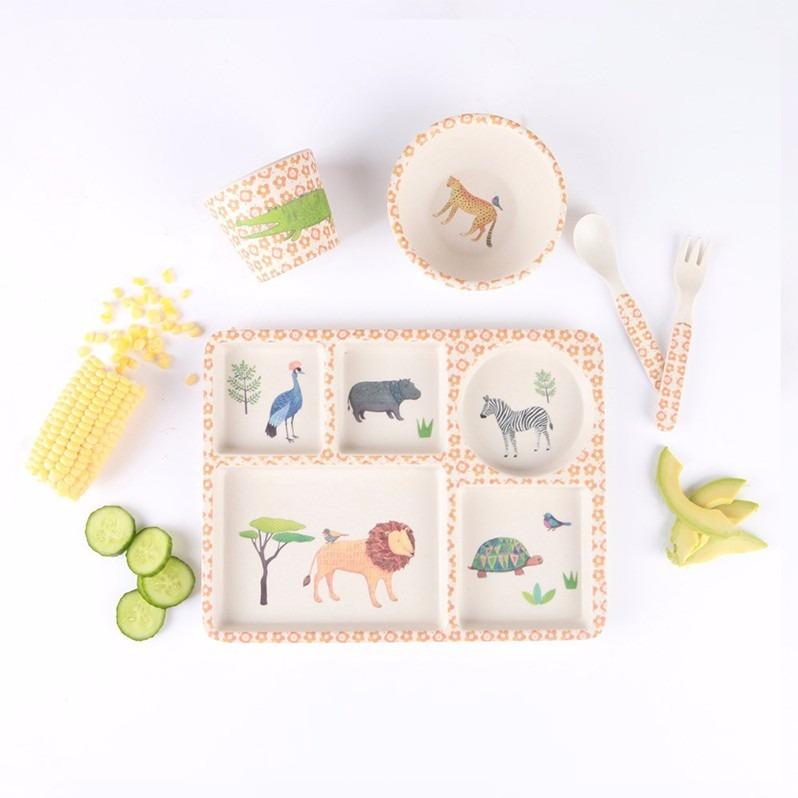 民生惠 ·LOVE MAE 野生动物园餐具5件套  MAE-YD003