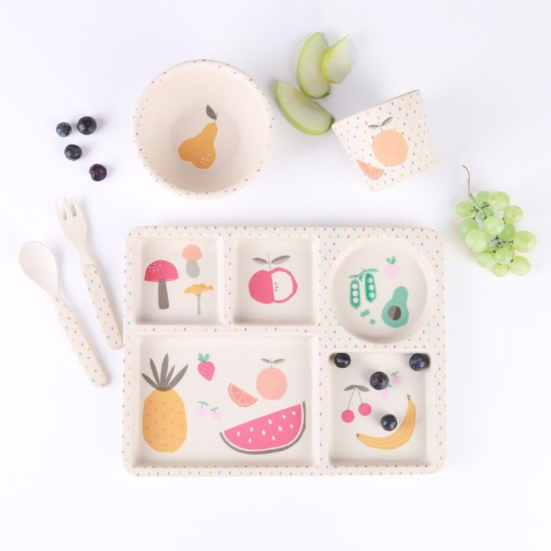 民生惠 ·LOVE MAE 水果盛宴餐具5件套  MAE-YD004