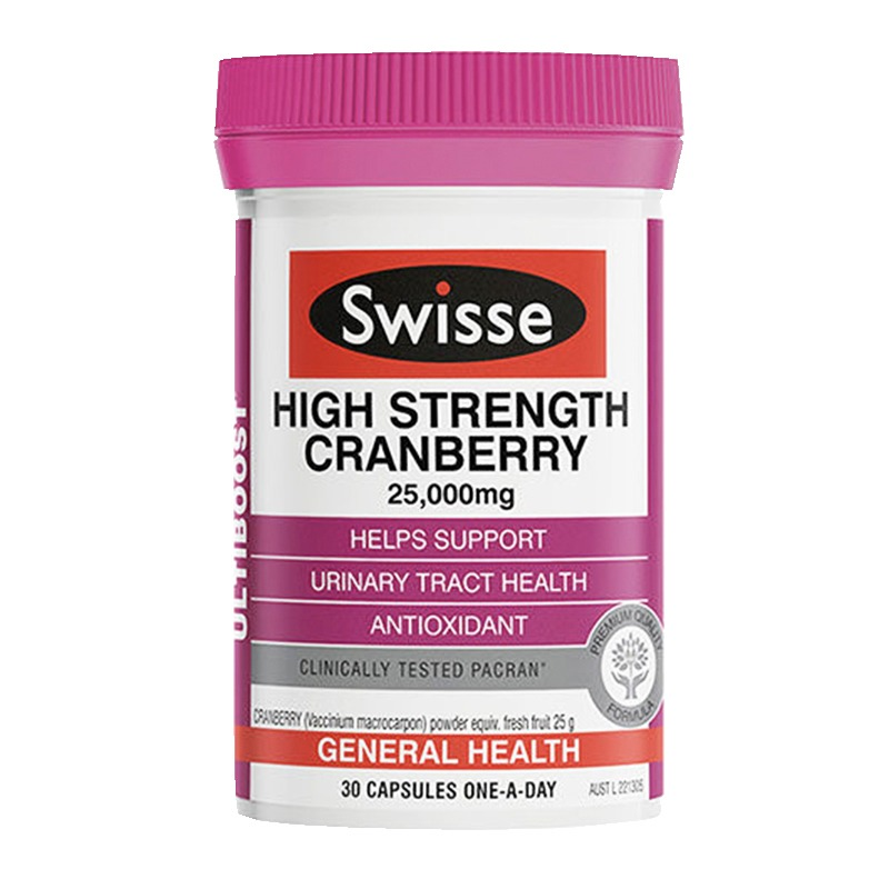 Swisse高強度蔓越莓膠囊25000mg 30粒