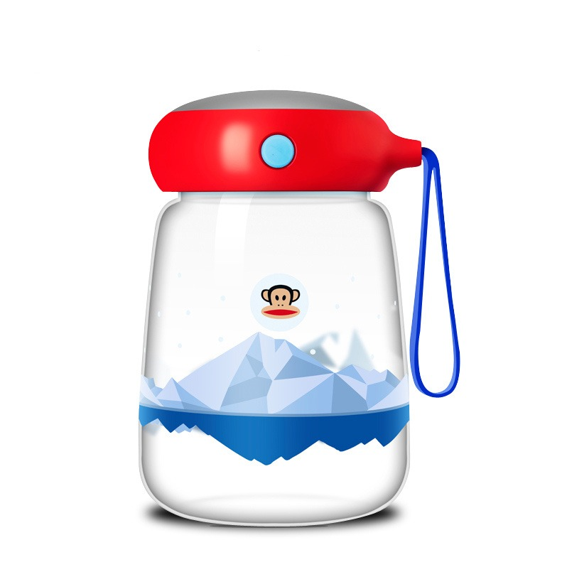 美國 大嘴猴Paul frank玻璃杯紅色380m【Gaia 蓋亞跨境購】