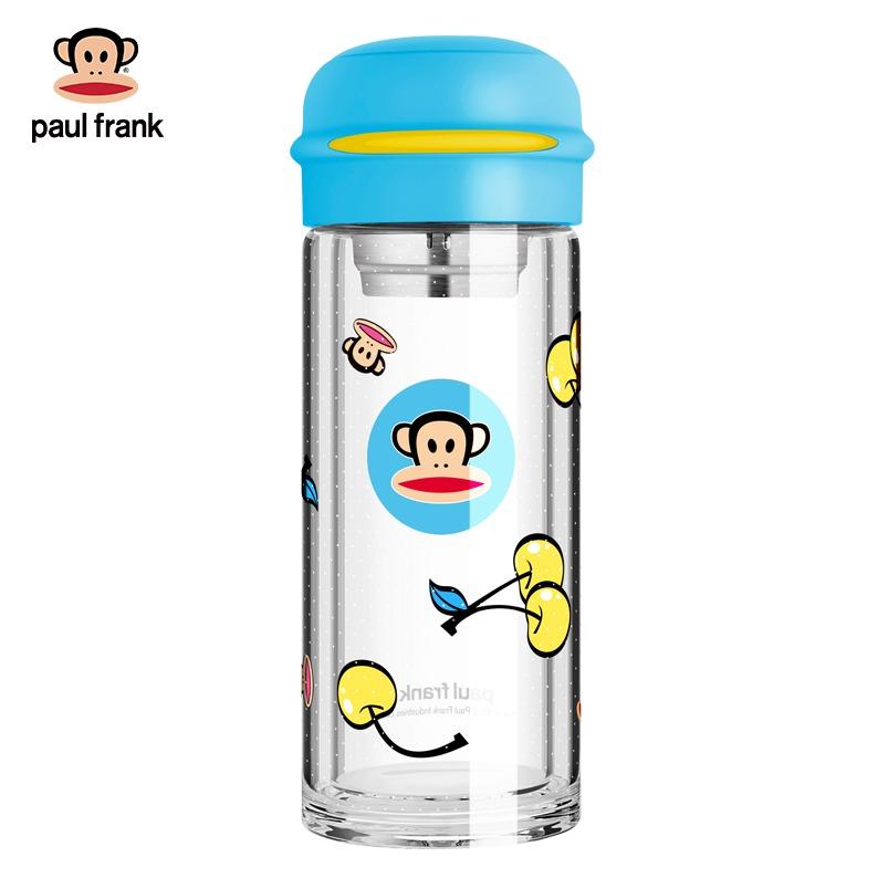 民生惠 ·美国 大嘴猴Paul frank玻璃杯蓝色240ml