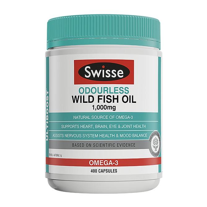 Swisse無腥味野生魚油1000mg 400粒