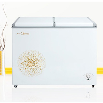 美的(Midea) BCD-220VM(E) 冰柜商用大容量家用雙溫冷藏保鮮冷凍小冷柜