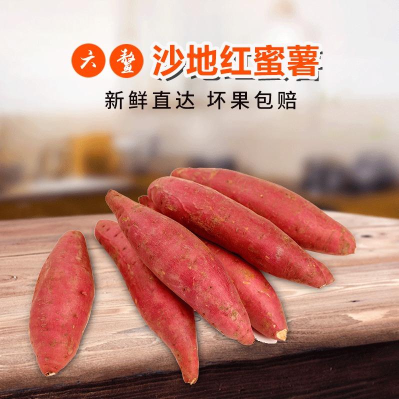 产地直供沙地种植六鳌红蜜薯中小果5斤装